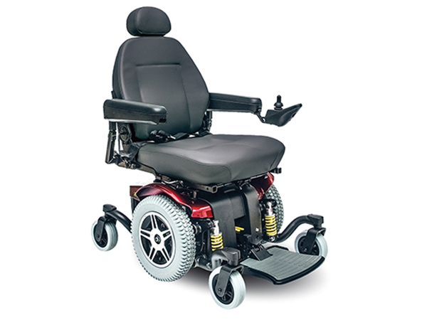 Power Wheelchairs Jazzy 614 HD Jazzy Red
