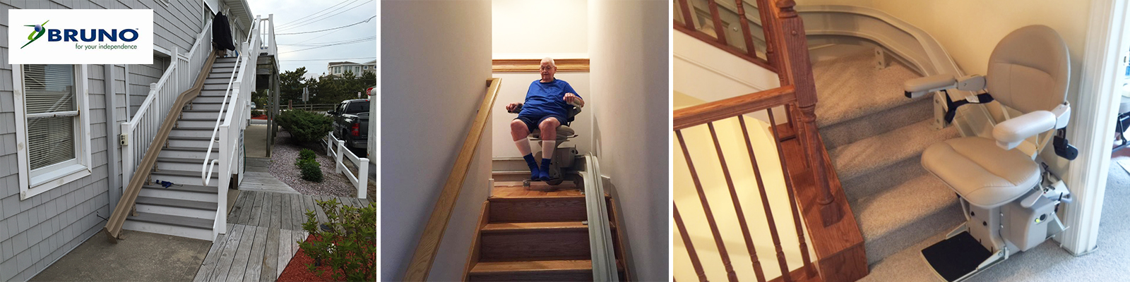Bruno Stairlifts Indoor and Outdoor